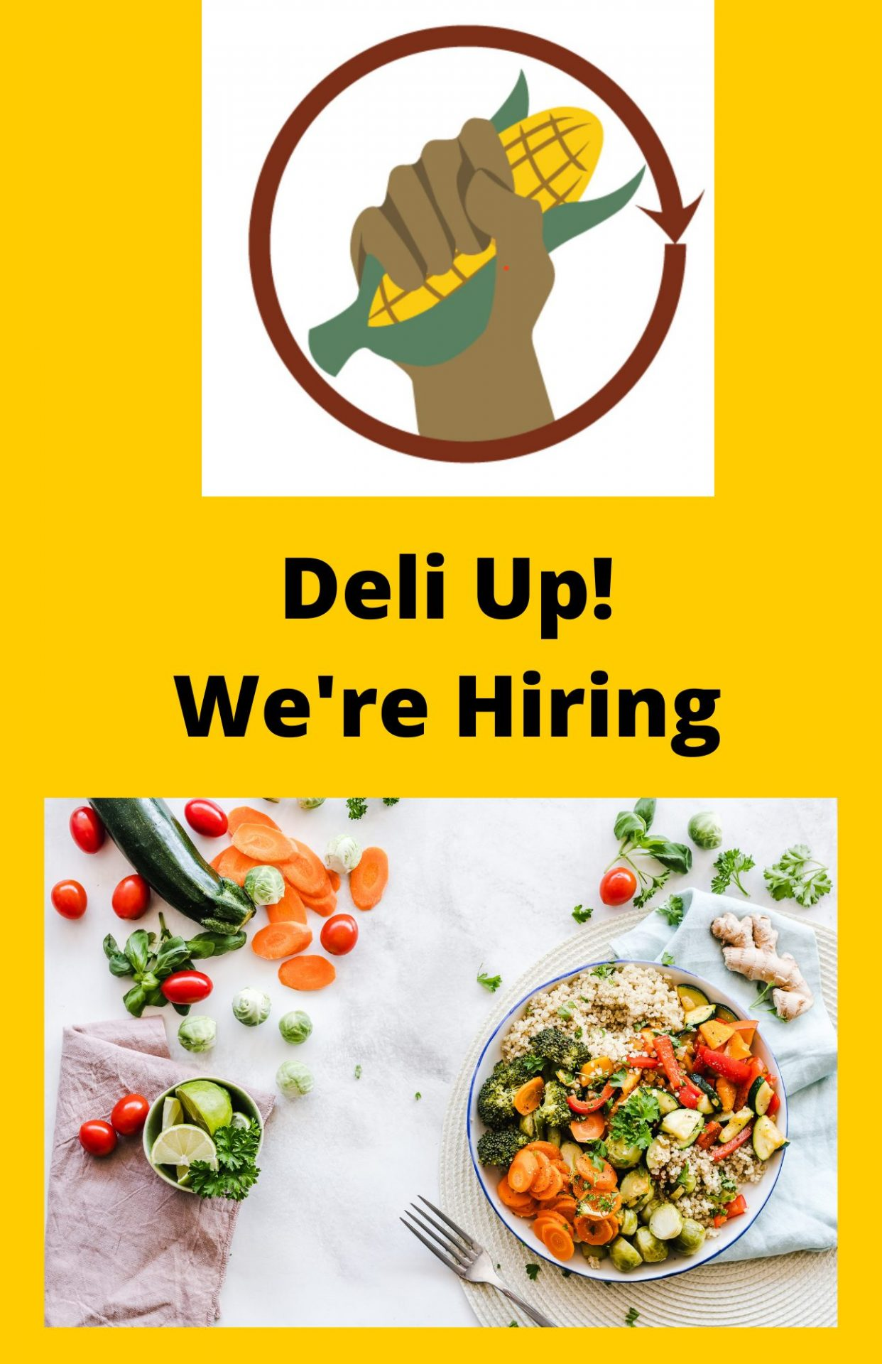We're Hiring! Join our team to launch our Deli business image